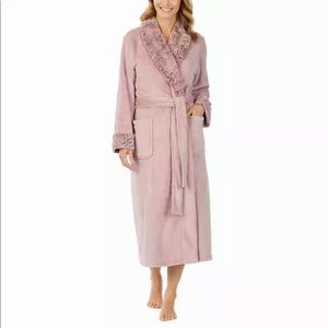 NWT Women's Pink CAROLE HOCHMAN Plush Wrap Robe